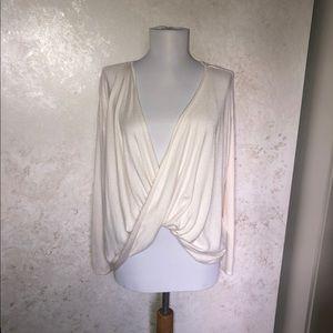 Soft Surroundings Twist Front Long Sleeve Sweater